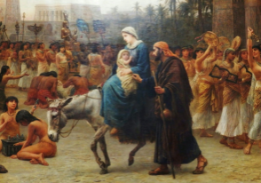 Mary and Joseph migrants picture